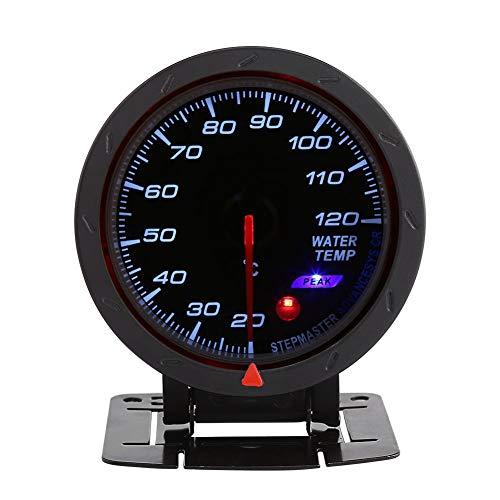 Kimiss - Indicador digital de temperatura del agua (LED, 20-120 °C, para carreras de coche), color azul