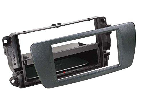 Acv Adaptateur de façade Soft Touch 2-DIN Inbay® Seat 2008 > azabache Noir