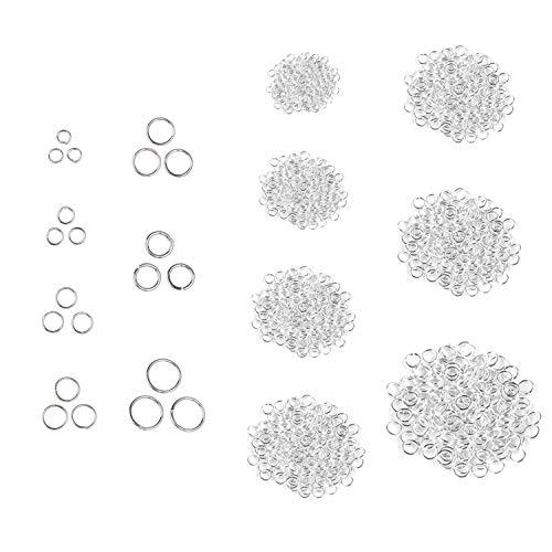 Buigzaam - zilverkleur - 1280 stuks, 6 maten - voor doe-het-zelf sieradenproducten/reparatie - maak je eigen zelfgemaakte armbanden, kettingen, hangers, enz. - Eenvoudig te installeren