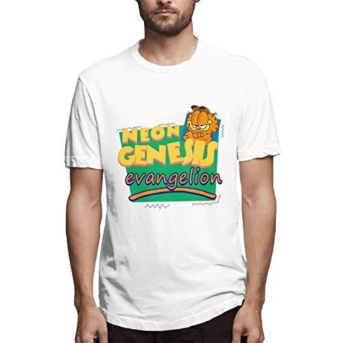 Funny Deagin T Shirt Neon Genesis Evangelion Meets Garfield and Friends Humor Tees Tops for Men Small
