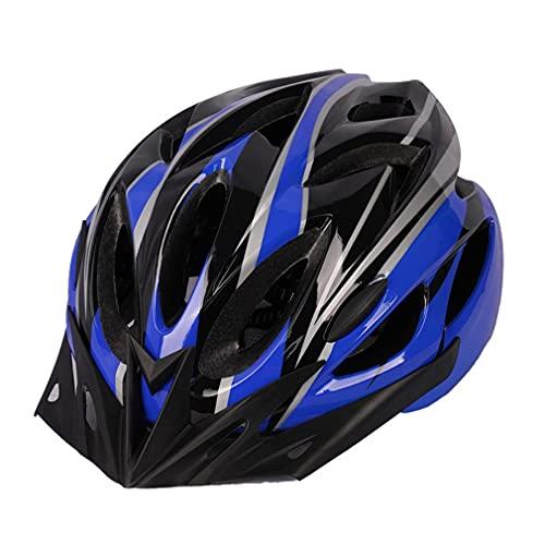 SeniorMar-UK Leichter Motorradhelm Rennrad Fahrradhelm Herren Damen Für Fahrradfahren Sicherheit Erwachsene Fahrradhelm Fahrrad MTB Helm blau und schwarz