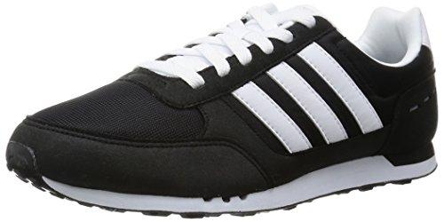 adidas Herren Neo City Racer Laufschuhe, Negro / Blanco / Gris (Negbas / Ftwbla / Gris), 4