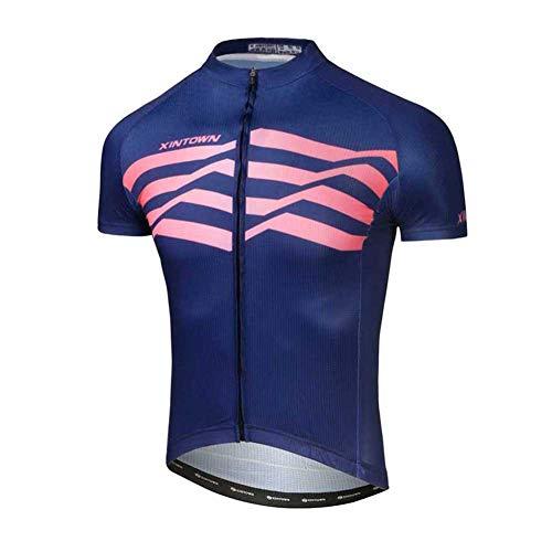 SXSHUN Hombres Maillot de Ciclismo Camiseta de Manga Corta de Bicicleta Verano...