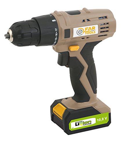 LI 108 Taladro sin cable tensión 10,8 V, Batería amperios 1,3 AH, Tipo de batería Li-ion, máx. 12 N/M, tiempo de carga medio indicativo 180-300 MIN,