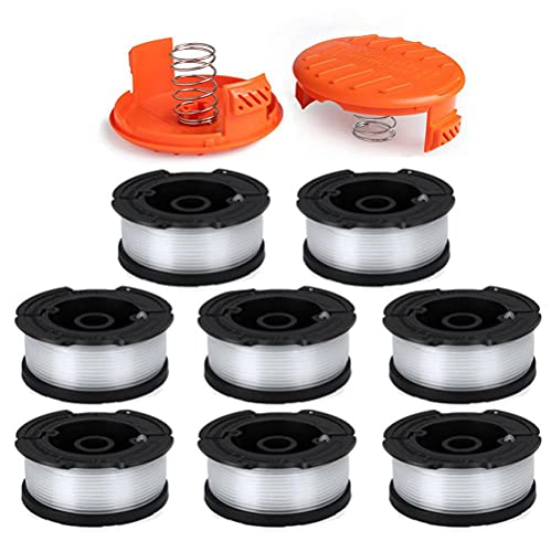 """LIYYOO Line String Trimmer Replacement Spool 30ft 0.065"""" for Black and Decker String Trimmer AF-100 Replacement Autofeed Spool,10-Pack (8 Replacement Spool, 2 Trimmer Cap)"""