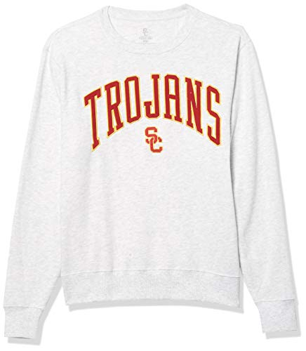 University of Southern California Authentic Apparel NCAA USC Trojans Mens University of Southern California Asher Hoodless Pullover, Silver Heather, Large (SC200810002)