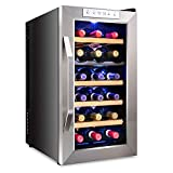 Ivation 18 Bottle Dual Zone Thermoelectric Red & White Wine...