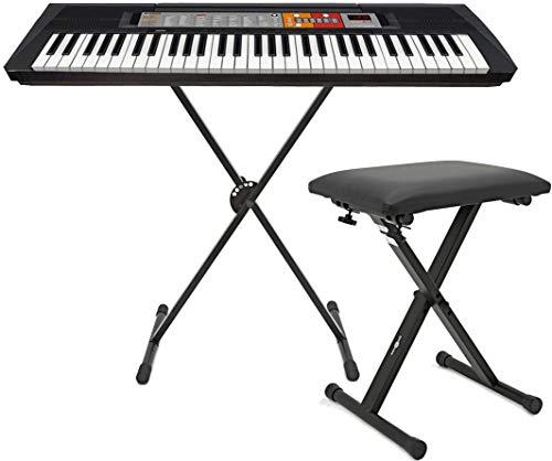 Yamaha PSR-F51 - Tastiera con 61tasti + supporto a X 001-MH + sgabello