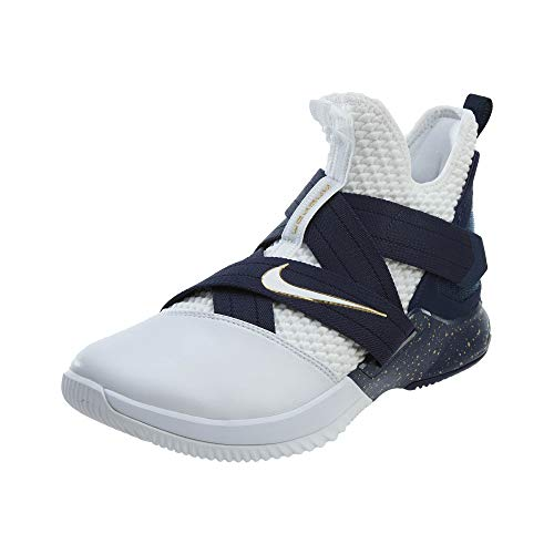 Nike - Lebron Soldier 12 SFG - AO4054100 - El Color: Blanco-Azul Marino - Talla: 44.5