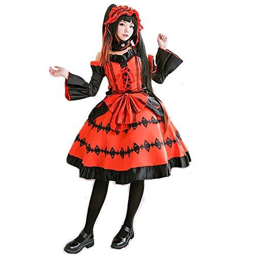 Kurumi Tokisaki Cosplay Disfraz de mucama para Regalo de Cosplay de Anime, Disfraz de Navidad de Halloween