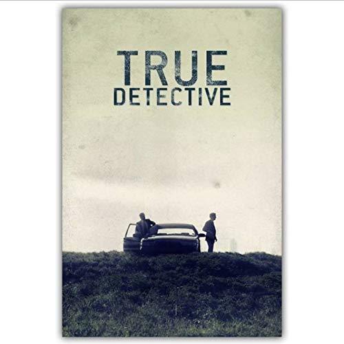 yhnjikl True Detective TV Poster Poster Custom Poster Art Decoración del hogar Tela Tela Cartel de la Pared Imprimir Tela de Seda 40X60Cm Sin Marco