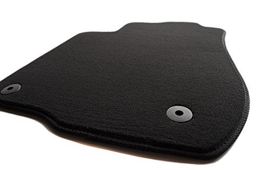 Paillasson rétroviseur pour audi a3, (8L/tous) produit velours tapis de voiture-noir-avant gauche