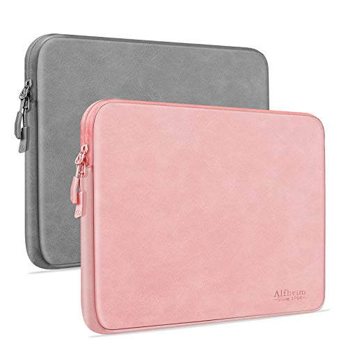 Alfheim 13.3 inch 2 Pack Laptop Sleeve,Waterproof Shock Resistant Laptop Protective Case,Thickest Fashion Lightweight Laptop Cover for Men Women