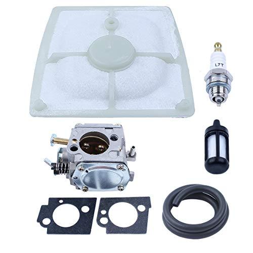 Carburetor with Fuel Filter Line Air Filter Spark Plug Fit STIHL 041 041AV 041 Farm Boss