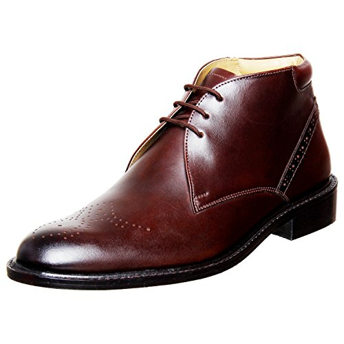 Liberty Mens Handmade Leather Classic Lace Up Closure Brogue Dress Oxford Shoes,Brown,8.5 D(M) US