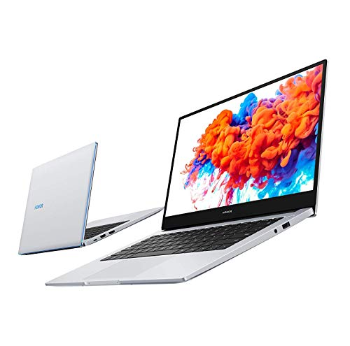 HONOR MagicBook 14 Laptop, 35,56cm (14 Zoll), Full HD IPS, 256 GB PCIe SSD, 8 GB RAM, AMD Ryzen 5 3500U, Fingerabdrucksensor, Windows 10 Home - Mystic Silver