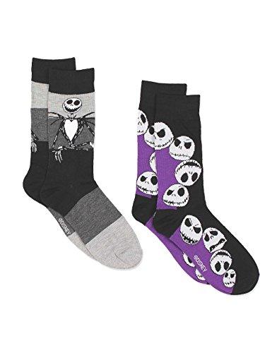 Disney The Nightmare Before Christmas Mens Multi pack Socks (10-13 Mens (Shoe: 6-12.5), Jack 2 Pack)