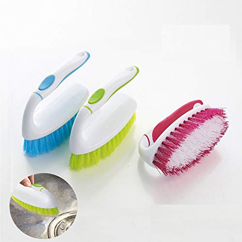 Juego de cepillos de limpieza, Durable de plástico Cepillo de Limpieza,Cepillo Ropa Zapatos Multifuncional con Ergonomica Duras(2pcs)