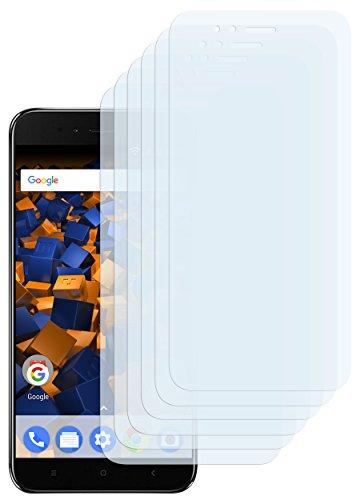 mumbi Schutzfolie kompatibel mit Xiaomi Mi A1 Folie klar, Bildschirmschutzfolie (6X)