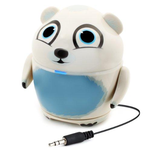 GOgroove altoparlante in linea con design tipo animale (orso polare) e plug da 3,5mm per telefoni e tablet – Funziona con Allwinner A13 7  , ProntoTec KidTab 7  , Haehne 7  , Jellipad , Little Fingers ExplorerTab