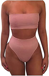 BEESCLOVER Women Bikini Push-up Padded Bra Swimsuit Bathing 2 Pieces Set Swimwear Colour:Black Size:M