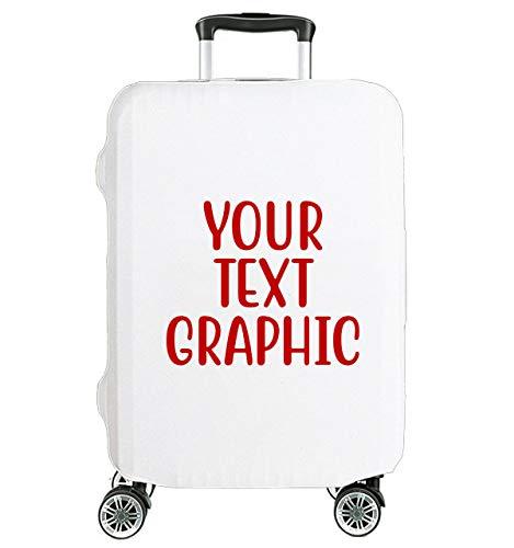 Personalisierte Deine Inschrift Hochelastische Reise-Koffer Abdeckung Schutzabdeckung Kofferschutzhülle Kofferbezug Kofferhülle Mittel 23