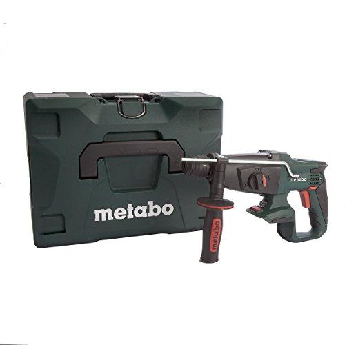 Metabo 600210840 600210840-Martillo ligero SDS-Plus a bateria 18V Ah Li-Ion KHA 18 LTX con maletin MetaLoc, 0 W, 18 V, Negro, Verde, Gris, 1