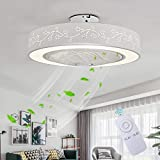 Ceiling Fan With Light Creative Invisible Fan With Remote Control Dimmable Ultra Quiet LED Fan Ceiling Light Living Room Modern Kids Room Ceiling Fan Ceiling Light