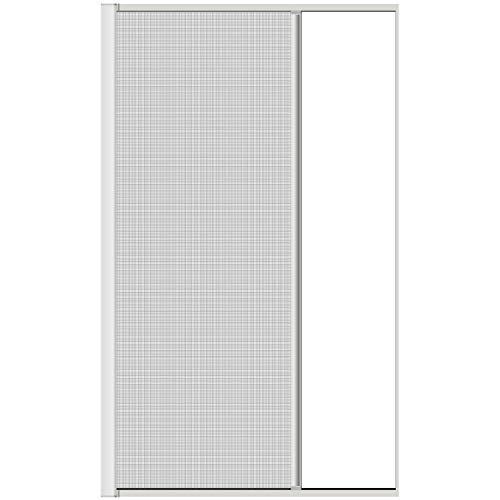 1PLUS Premium Aluminium Insektenschutz Rollo für Türen bis 125 x 220 cm in verschiedenen Farben (Weiß)
