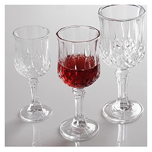 shiqi Duoter - Copa de vino de cristal sin plomo (capacidad: 155 ml, color: transparente)