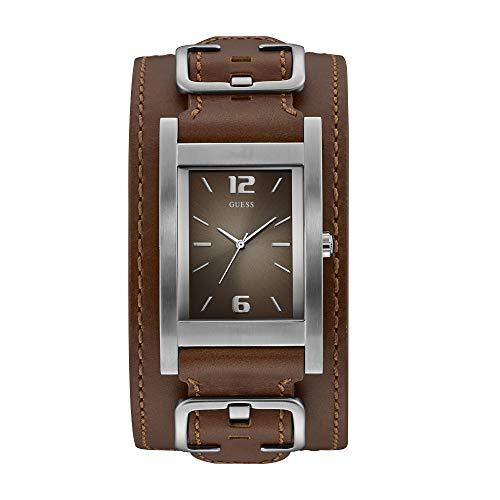 Guess Reloj Analógico para Hombre de Cuarzo con Correa en Piel W1165G1