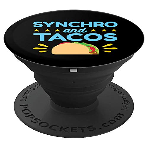 Synchro and Tacos - Synchronized Swimming PopSockets Grip and Stand for Phones and Tablets