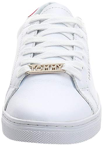 Tommy Hilfiger Essential Sneaker, Zapatillas Mujer, Blanco (RWB 020), 40 EU