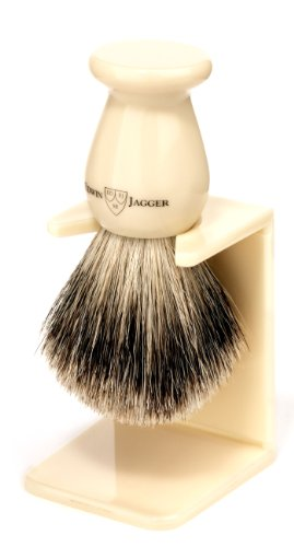 Edwin Jagger Pennello da Barba in Pelo di Tasso Best Badger, Medio - 93 g