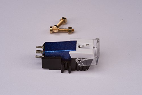 Cartridge and Stylus, needle with mounting bolts for Pioneer PL50, PL518, PL512, PL530, PL630, PLA45D, PLA35, PL516, PL88FS, PL61, PL600, X1300, PL335, PL120, PL30, PL320