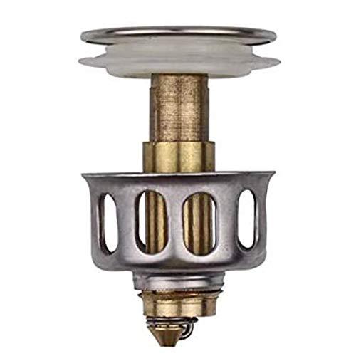 WDMDLZFD 2020 Neues Waschbecken Bounce Drain Filter Bad Waschbecken Druckknopf Abflussstopper Eingebautes Anti-Verstopfungssieb