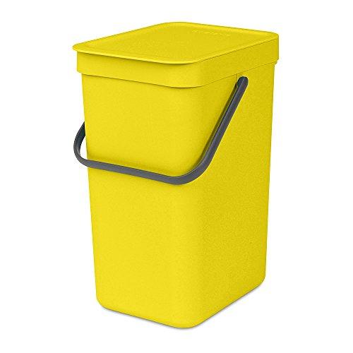 Brabantia Sort & Go Waste Bin, 12L, Yellow