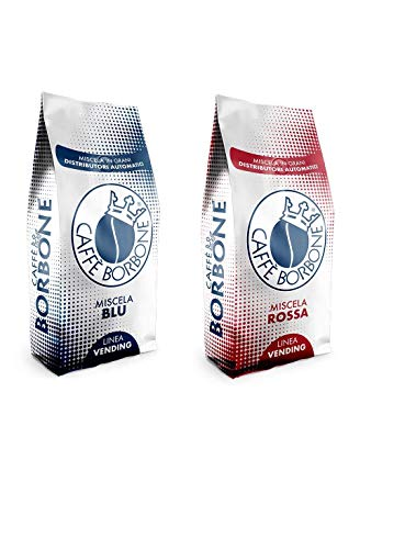 Borbone Linea Vending 2 kg Kaffeebohnen Qualitätsmischung Rot und Blau