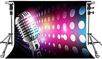 HDミュージックステージの背景カラースポット7X5ft写真の背景をテーマにしたパーティーフォトブースYouTubeの背景GEMT1437