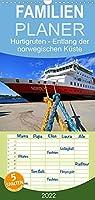 Hurtigruten - Entlang der norwegischen Kueste - Familienplaner hoch (Wandkalender 2022 , 21 cm x 45 cm, hoch): Eine Fahrt durch eine faszinierende Fjordlandschaft (Monatskalender, 14 Seiten )