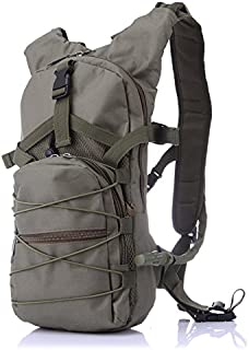 Outdoor Backpack Camping Hiking Military Green Package with 2.5L Water Bag