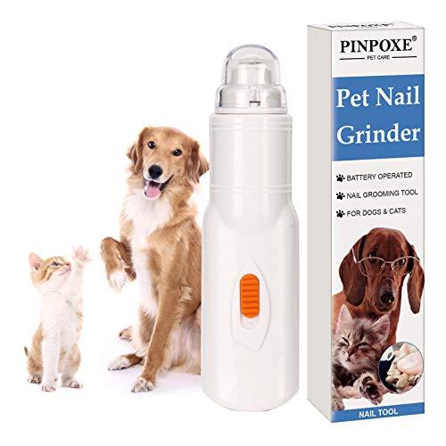 PINPOXE Uñas Eléctrica para Mascotas, Eléctrica Cortaunas Perro, Amoladora Eléctrica para Perros,...