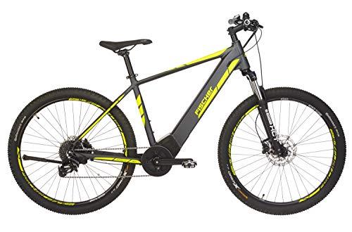 FISCHER E-Mountainbike MONTIS 5.0i, E-Bike MTB, grau matt, 27,5 Zoll, RH 48 cm, Brose Mittelmotor 50 Nm, 36 V Akku im Rahmen