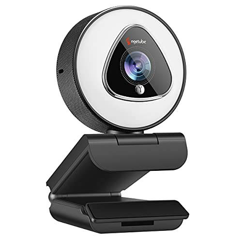 1080P Webcam with Ring Light - Streaming HD Web Camera with Microphone - Angetube Auto Focus Computer   Laptop   Desktop USB Camera for Xbox PC Gaming Stream, Zoom Meeting, Video Calling, Twitch