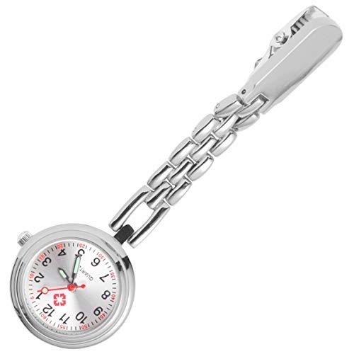 Hemobllo Krankenschwester Uhr Medizinische Taschenuhr für Männer und Frauen Quarz Clip-On Hängeuhr Einfache Clip Schnalle Hängeuhr für Frauen Krankenhaus Ärzte Krankenschwestern (Roségold)