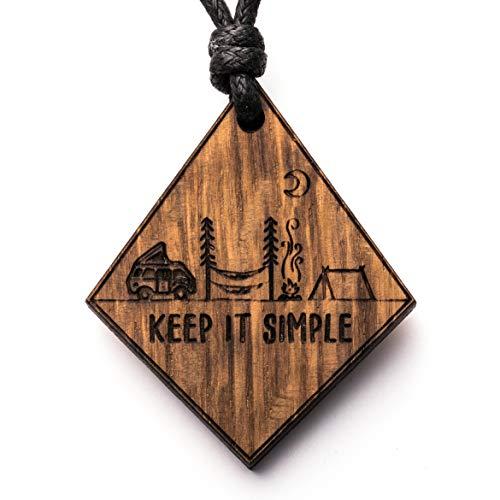 treeforce Keep it Simple Van Halskette, Schlüsselanhänger oder Auto- Anhänger 3in1 DIY Schmuck aus Kupfereiche