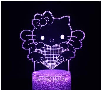 Hello Kitty Series Colorful 3D Light Night Light Holiday Gift YZ 944 Suitable for Boys and Girls product image