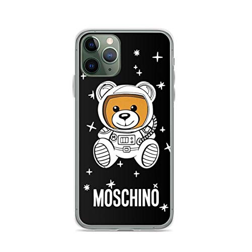 Mos-chi-no Astronaut Bear Phone Case Compatible with iPhone 12 11 X Xs Xr 8 7 6 6s Plus Pro Max Samsung Galaxy Note S9 S10 S20 Ultra Plus