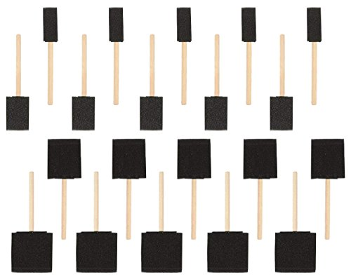Foam Paint Brushes, Arts and Crafts Supplies (4 Sizes, 20-Pack)