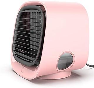 TANWERN Mini Aire Acondicionado, Climatizador Portatil con Tanque de Agua 300ml, Enfriador de Aire Alimentado por USB, 3 velocidades Ajustables, Mini Ventilador Humidificador para la Oficina en casa